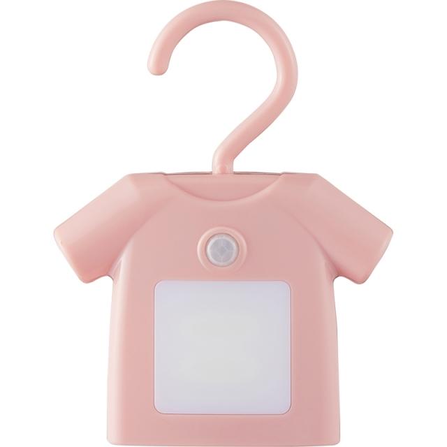【一括お届け】人感センサー付きクローゼットライト ティーシャツピンク B6011-568