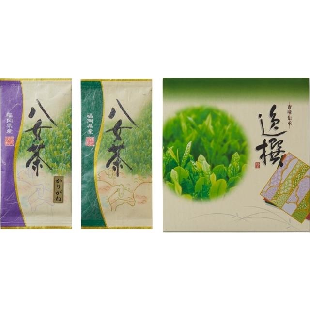 【一括お届け】袋布向春園本店八女茶詰合せ B6040-604