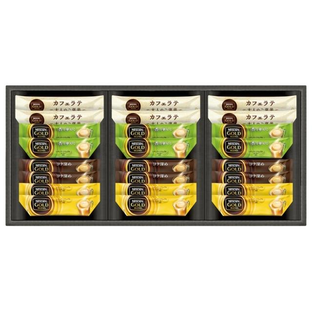 【一括お届け】ネスレネスカフェゴールドブレンドプレミアムスティックコーヒーギフト B6054-534