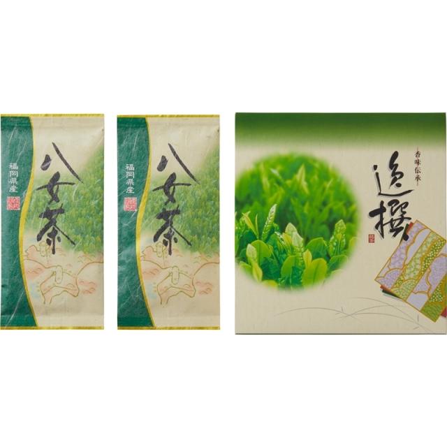 【一括お届け】袋布向春園本店八女茶詰合せ B6055-538