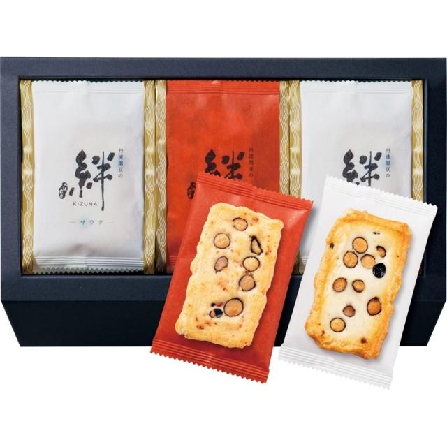 【一括お届け】百菓匠まえだ丹波黒豆おかき 絆 B6055-570