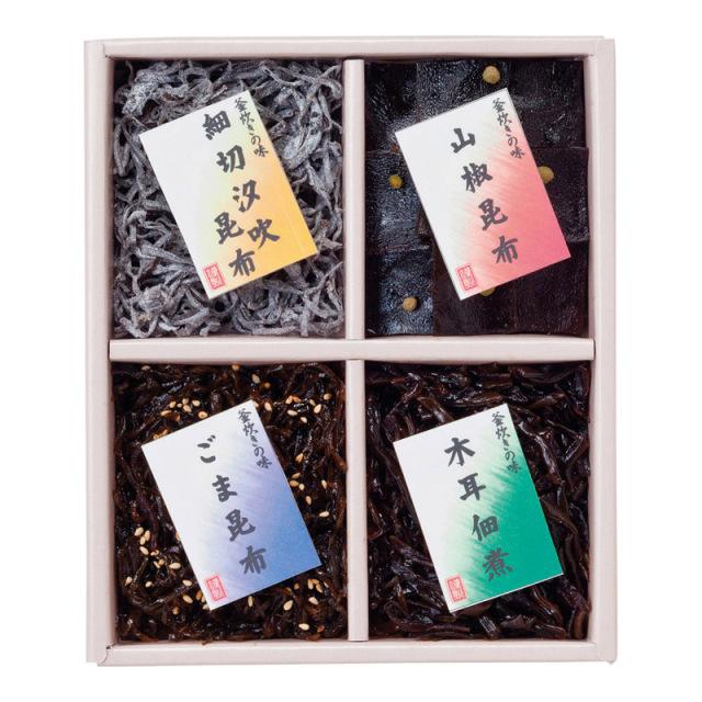 【一括お届け】廣川昆布御昆布 佃煮4品詰合せ H6031-4