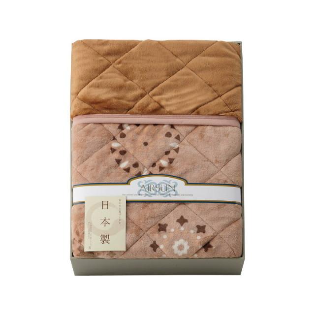 【送料無料】吸湿発熱わた入り 国産やわらかタッチ毛布ふとん L5077-526