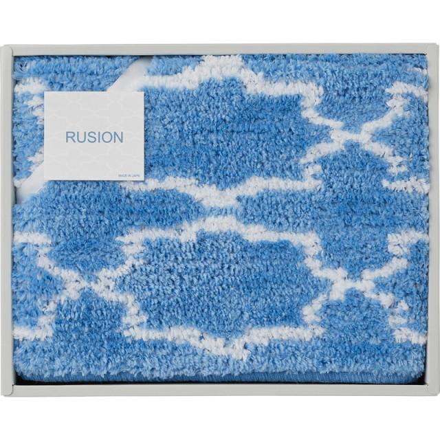 【送料無料】ルシオンバスマットブルー L5082-554