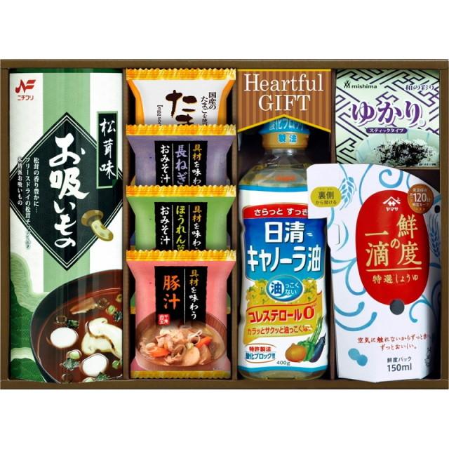 【送料無料】日清キャノーラ油&鮮度の一滴しょうゆ詰合せ L5103-535