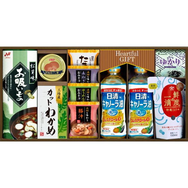 【送料無料】日清キャノーラ油&鮮度の一滴しょうゆ詰合せ L5103-560