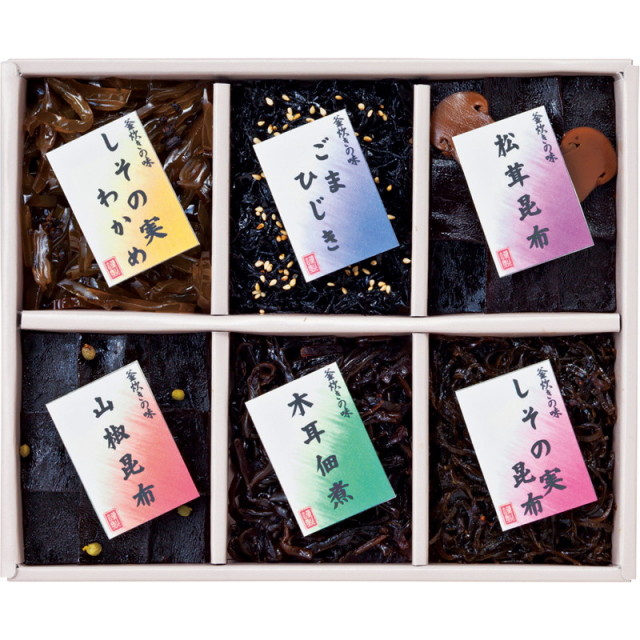 【送料無料】廣川昆布御昆布 佃煮6品詰合せ L5108-555