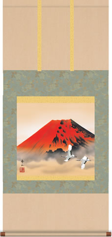 b6-033 赤富士飛翔 鈴村秀山
