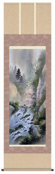 掛け軸 桜花爛漫 小林秀峰