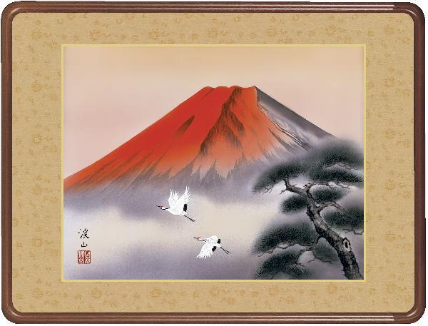 額 赤富士飛鶴 伊藤渓山