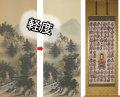 軽度尺八合金襴裂地(奈良蜀江柄 茶・内回し紺)仏表装