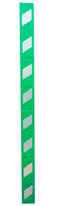 コーナーガード(反射タイプ) 緑/白 幅150mm