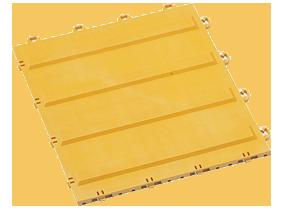 ダストップ用 誘導パネルAヨコ300×300 ダストップ_にジョイントできる専用の点字パネル