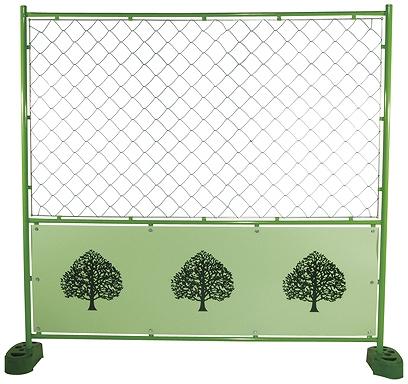デザインフェンス 樹木 金網 1,800x1,800