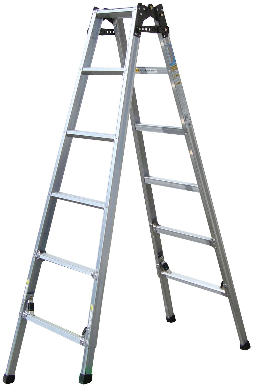 ケンヨウキャタツ のび太郎 四脚調節式 はしご兼用脚立