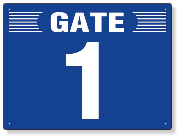 305-303 ゲート表示板 GATE 4 ヨコ