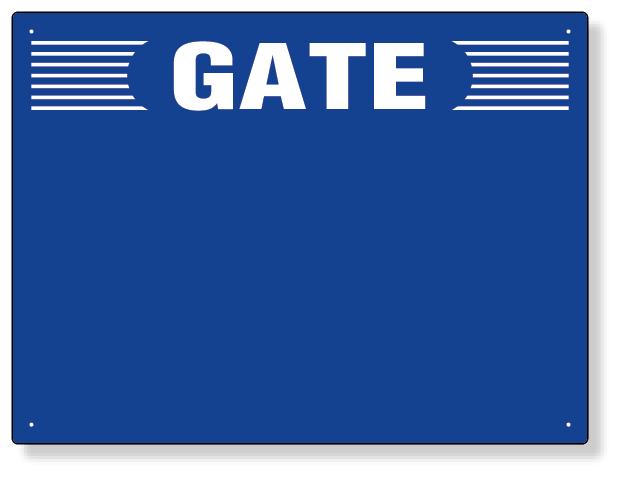305-304 ゲート表示板 GATE 数字なし ヨコ