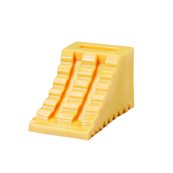 タイヤ歯止め 黄 115×225×120 4086