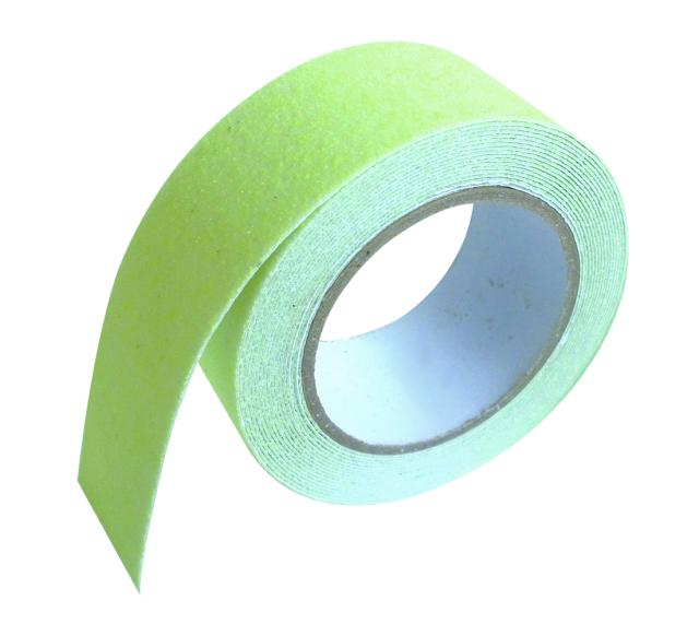 すべり止めテープザラザラ 蓄光黄緑  5m巻 ST-15
