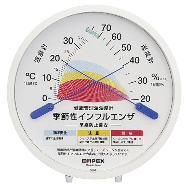 【法人・個人事業主様限定】BK-1102 感染防止目安温湿度計 TM-2584