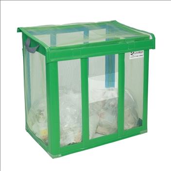 自立ゴミ枠 折りたたみ式 緑 650L (DS-261-001-1)