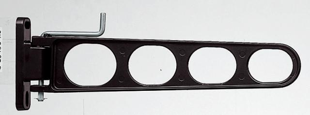バルコニー物干し金物(横収納型)2個セット SK-38LSB