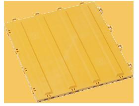 ダストップ用 誘導パネルBタテ300×300 ダストップ_にジョイントできる専用の点字パネル