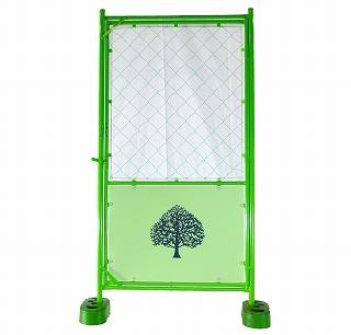 デザインフェンス 樹木 扉付 金網 900x1,800