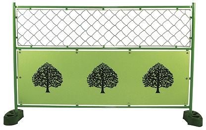 デザインフェンス ミニ 樹木 金網 1,200x1,800