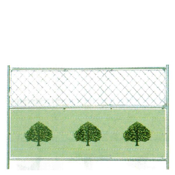 ドブメッキミニフェンス 樹木 1,200x1,800