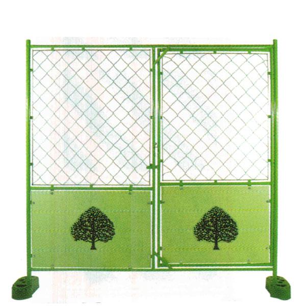 デザインフェンス 樹木 扉付 金網 1,800x1,800