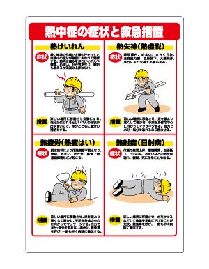 HO-502 熱中症対策標識 症状と救急措置