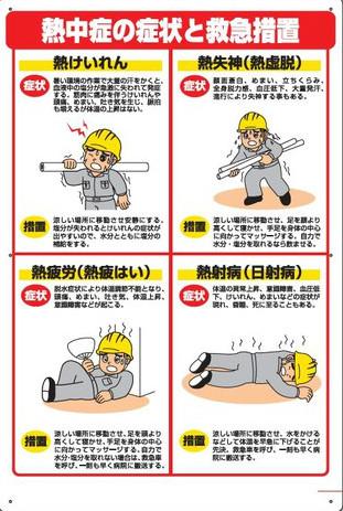 熱中症対策標識 症状と救急措置 HO-502
