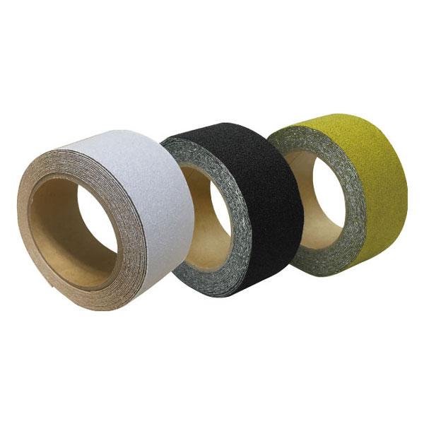 屋外用ノンスリップテープ すべらんテープ 黒・黄 50mm×5m巻 24個セット