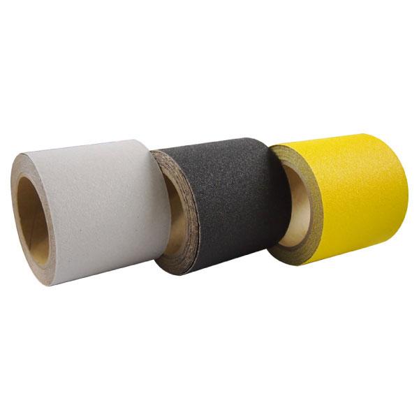屋外用ノンスリップテープ すべらんテープ 黒・黄 100mm×5m巻 12個セット