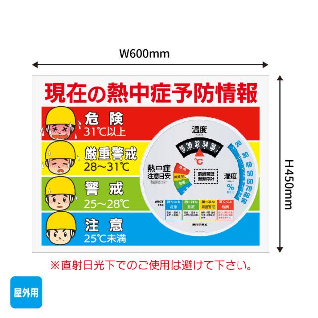 【法人・個人事業主様限定】N17-34 大型温湿度計付警戒看板(1000201)