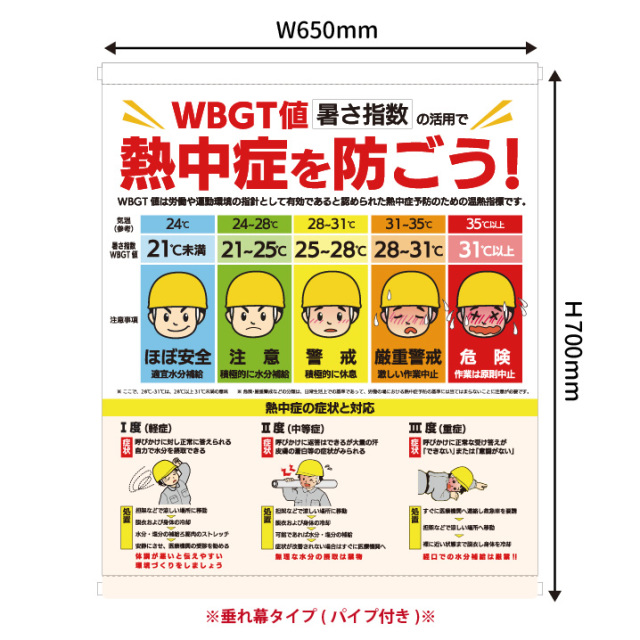 【法人・個人事業主様限定】N18-03 WBGT分布標識(1000380)