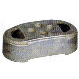 フェンス用鋳物ブロック ドブメッキ 9.5kg