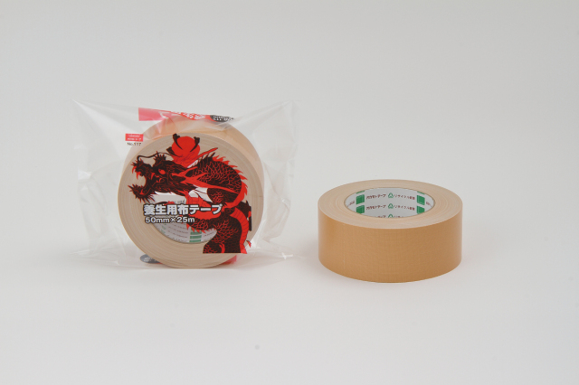 布テープ養生用 ♯117 クリーム 50mm巾×25M 30巻入り