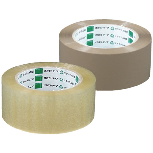 OPPテープ0.063mm厚/アクリル系 ♯353 透明/クリーム 48mm巾×50M 50巻入り