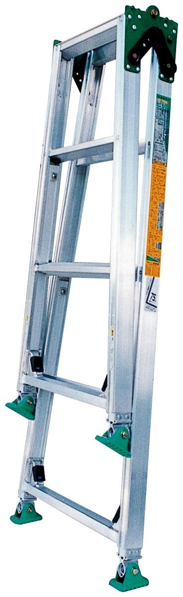 ピッチ(階段用)四脚調節式 脚異長はしご兼用脚立