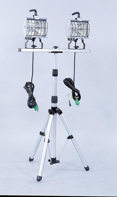 スタンド2灯式ハロゲン投光器