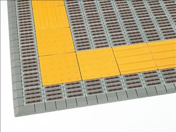 ナイロンブラッシュ H25 警告 300×300 設置例