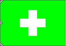 安全旗 緑