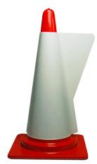 カラーコーン用立体表示カバー ホワイト(印刷なし) (ミヅシマ工業)