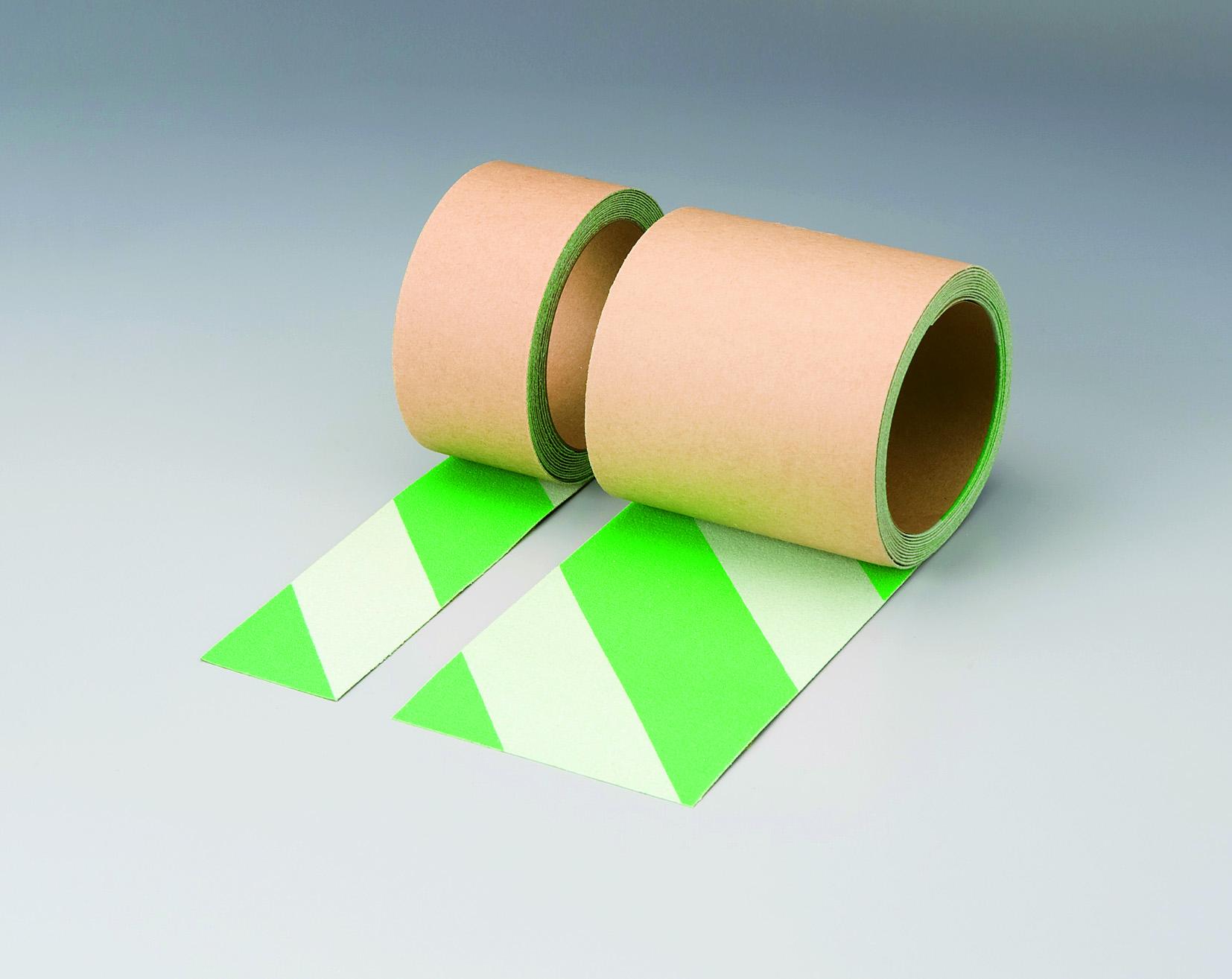 蛍光緑白 ノンスリップ(ゼブラタイプ)(50mm幅)  【374-47】