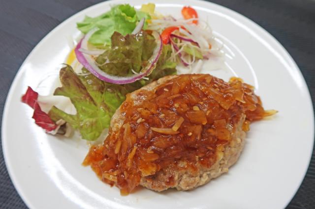 玉ねぎ生姜の和風ハンバーク