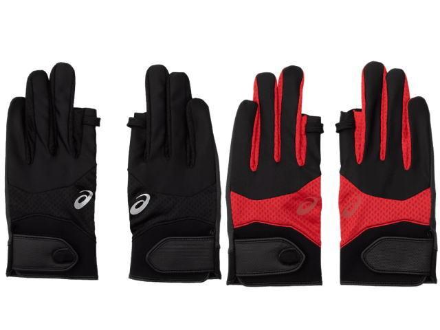 グラウンド・ゴルフ手袋 PADグローブ アシックス 色は黒または赤