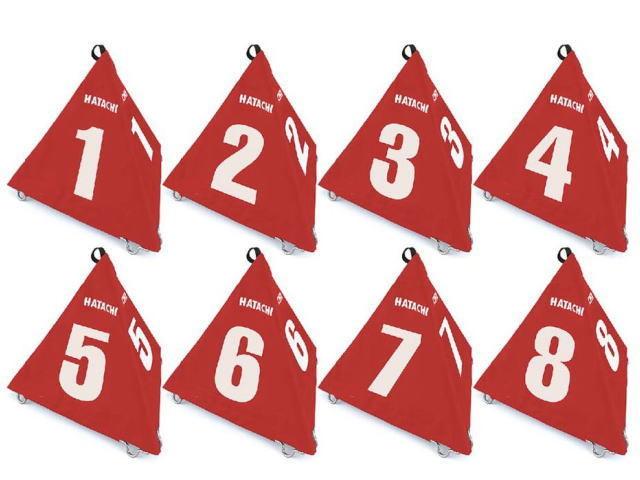ハタチ グラウンド・ゴルフBIGさんかく表示板8ホールセット (BH4210S) 羽立工業