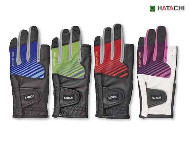 パワーグリップグローブ合皮指切手袋 ハタチ BH8075 グラウンドゴルフ手袋